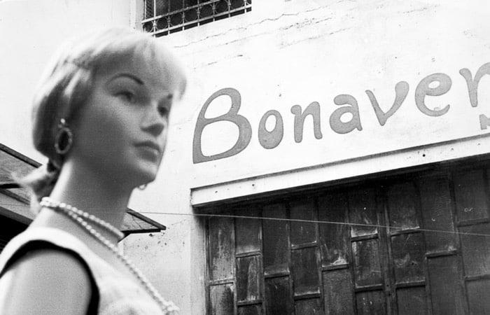 Outside the Bonaveri Factory Sign