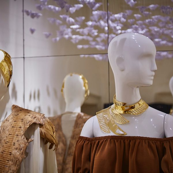Aloof mannequins for Fashion Utopias at Somerset House, international fashion showcase 2016