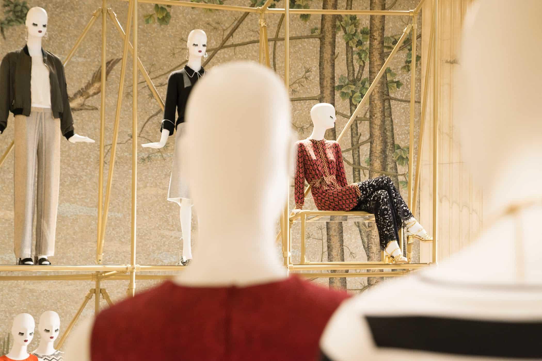 schläppi mannequins zara corso vittorio emanuele milan