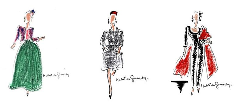 hubert de givenchy schlappi 2200 sketches - Schläppi 2200 mannequins for Givenchy's Audrey Hepburn tribute