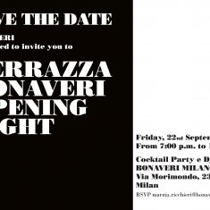TERRAZZABONAVERI opening party