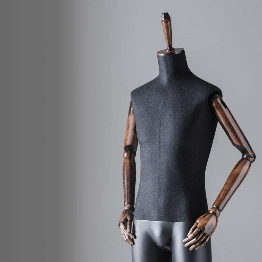 Sartorial Men | Headless male mannequin with fixed legs and articulated arms