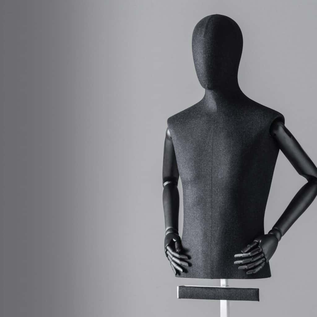 Sartorial Men | Male bust form with articulated arms and trouser bar