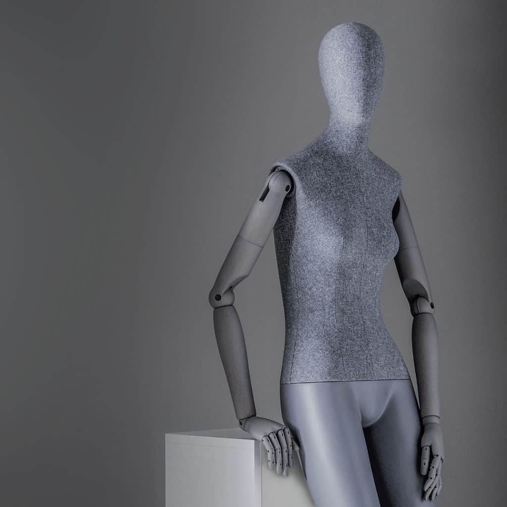 Sartorial Women | Seated female mannequin with articulated arms