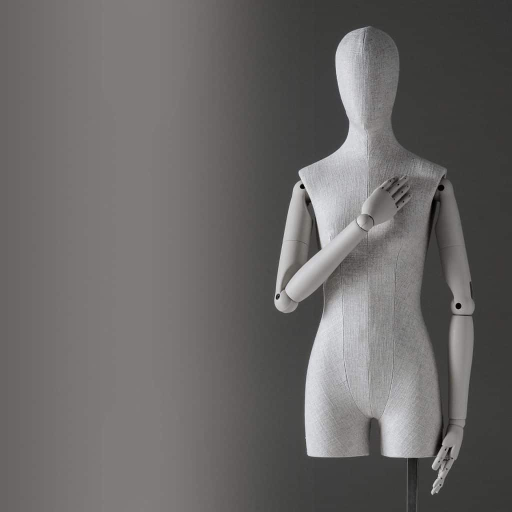 Sartorial Women | Female bust form and pelvis with articulated arms