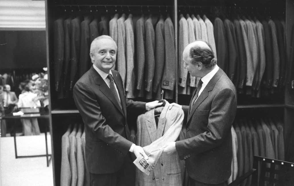 Angelo and Aldo Zegna - Opening first Zegna boutique in Paris 1980