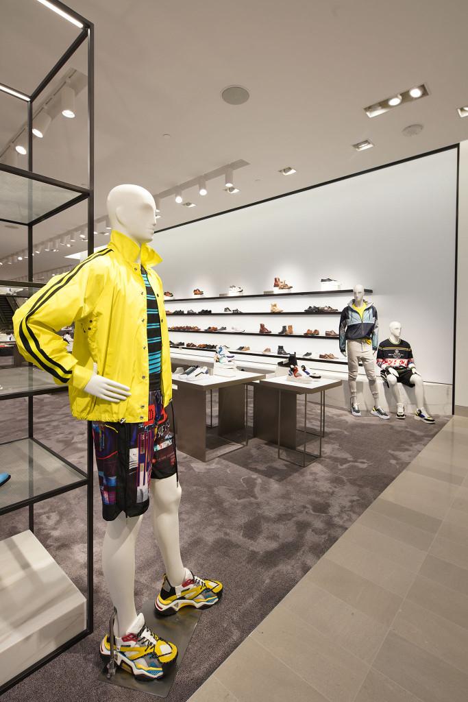 Schläppi 3800 male mannequin in the shoe department, Nieman Marcus