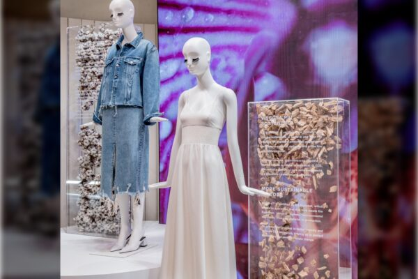 BNatural sustainable Mannequins for Zara Milan Design Week