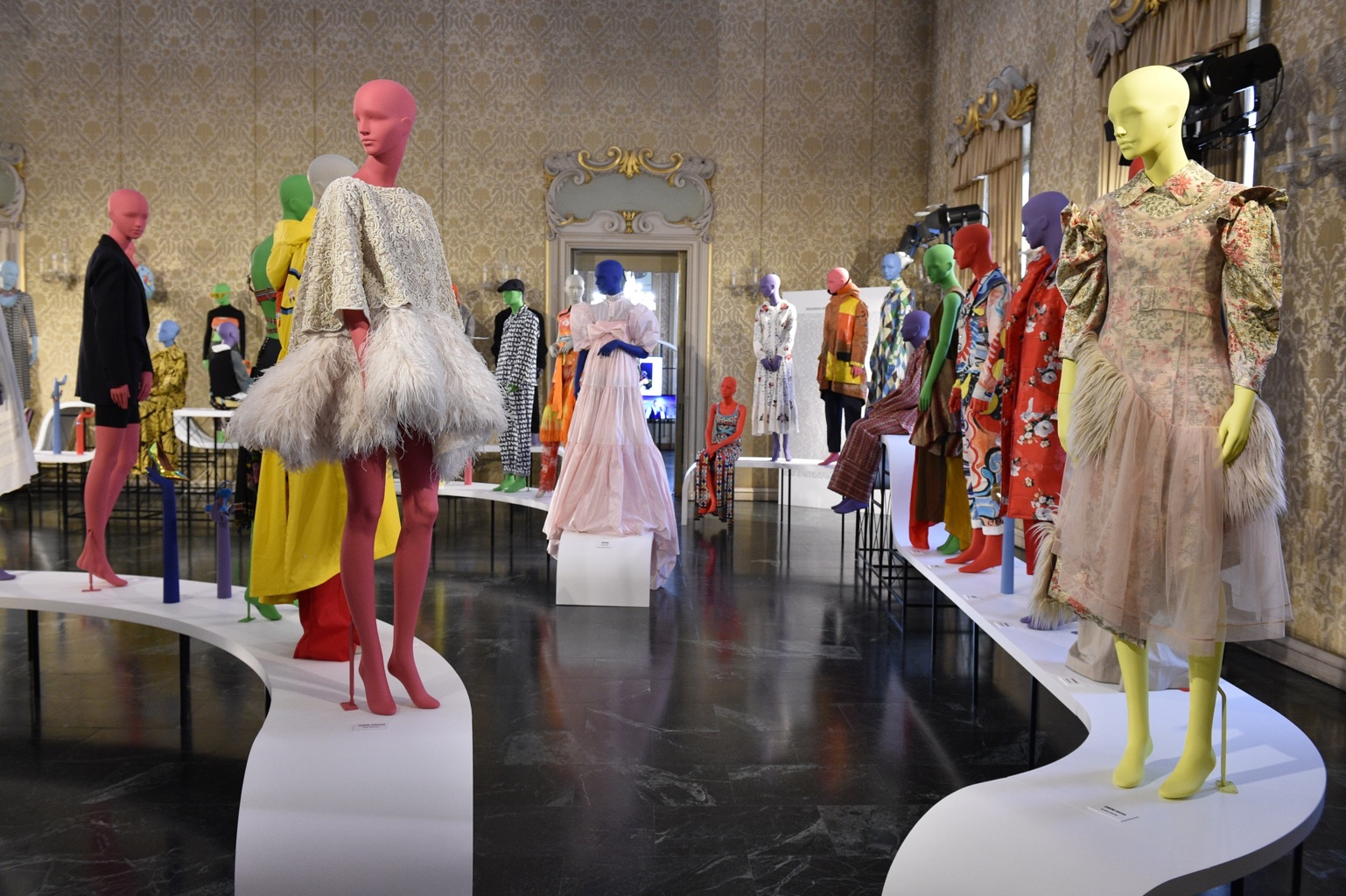 Vogue Talents presentation featuring colourful Tribe mannequins