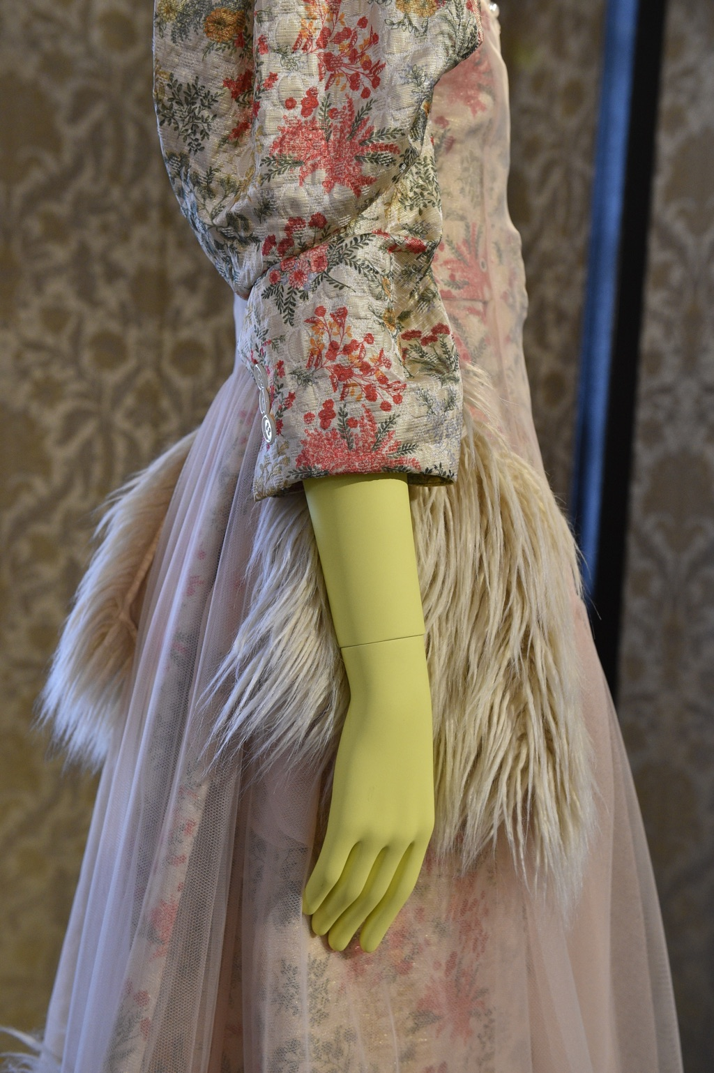 Detail of Simone Rocha garment on Tribe female mannequin for Vogue Talents