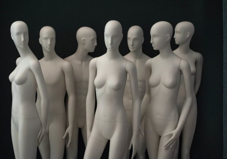 A group of Schläppi female and male mannequins