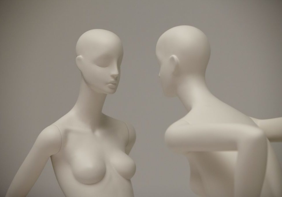 aloof female mannequins